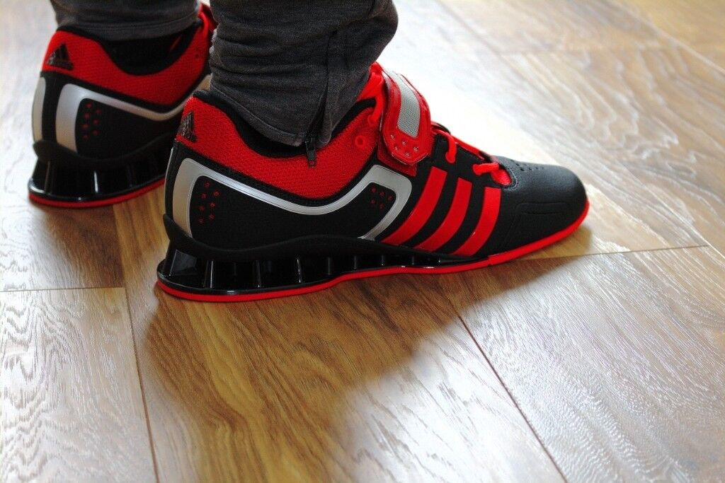 ADIPOWER WEIGHTLIFTING SHOES - RED BLACK - SIZE 10  4f31464e6