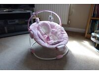 Baby Bouncer With Lullabyes and Soothing Vibration
