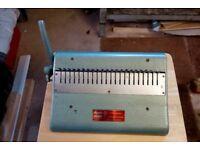 Document punching machine and binding Machine