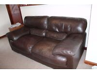 Brown two seater Leather Sofa for sale