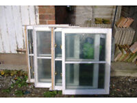 Timber framed double glazed windows - used - good for outbuildings/garden rooms perhaps?