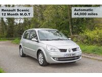 Renault Scenic - AUTOMATIC - LOW mileage (44k) - 12m MOT - 1.6L - Fully Valeted - GREAT CONDITION