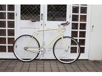 NEW IN!! !!! Steel Frame Single speed road bike fixed gear racing fixie bicycle i89s