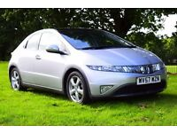 2007 HONDA CIVIC ES-I-VTEC PETROL 138 BHP**FULL LEATHER HEATED SEATS*79K*NEW MOT*PANAROMIC ROOF**