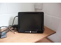 """Meos 12.1"""" portable tv/dvd player"""