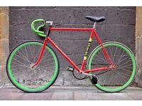 Unique TI Raleigh Professional Custom Fixed Gear Bike