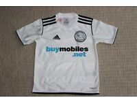 Kids Derby County FC football shirt size 3XS (approx age 5-7 years), new