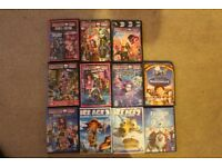 Bundle of 11 Girls DVDs Monster High Ice Age and Frozen