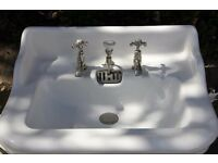 Victorian Sink with Chrome taps and iron support stands