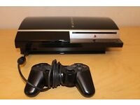 Sony PlayStation 3 80 GB Piano Black Console (CECH-L03) £70