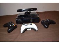Xbox 360 with Kinnect & 33 games
