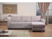 FLORIDA FABRIC CORNER SOFA STORAGE BED 12 MONTH WARRANTY BARGAIN AT ONLY £389 07852444206