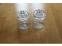 x2 Large glass jars with lids