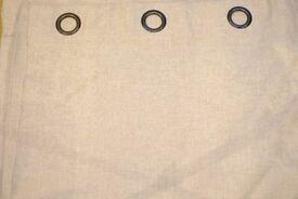 John Lewis textured weave eyelet curtains, cream colour, 167 x 228 cm