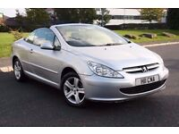 PEUGEOT 307 CC 2.0 CONVERTIBLE, MANUAL, LONG MOT, HARD TOP, NICE CAR, PRIVATE PLATE, NEW EXHAUST!!!