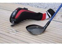 Titleist 913F fairway wood, 15*, with a stiff Diamana 72 S Flex Shaft. Adjustment tool and headover