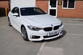 FANTASTIC BMW 420D M SPORT in WHITE WITH BLACK LEATHER, FULLY LOADED WITH ALL THE EXTRA'S.