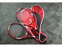 Set of tennis raquets