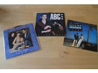 3 x 80s Vinyl Singles - Book of Love I touch roses - ABC Poison Arrow - Miami Vice Theme Jan Hammer