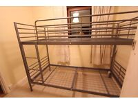 Joseph Metal Bunk Bed - Very Good Condition, Hardly Used