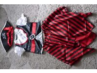 Girls Pirate Costume/Outfit/Dress Up - Age 6/7 - World Book Day