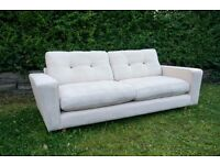 FABULOUS UNUSED DFS BECKETT / ARDEN 4 SEATER SOFA IN BEIGE FABRIC - FREE DELIVERY!