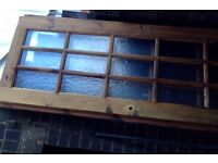 3 x Used Pine Wood Glazed Doors