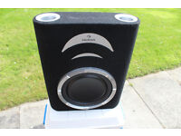 "AUNA IN CAR SUBWOOFER 10"" PASSIVE BASS DRIVER FLAT UNDER SEAT BOOT SUB BOX AUDIO"