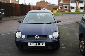 2004 1.2 VOLKSWAGEN POLO,5DR,LONG MOT,LOW MILAGE,GREAT FIRST CAR(CHEAP ON INSURANCE ) TAKE A LOOK!!