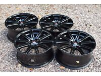 "20"" Axe Design EX15 Alloy Wheels Gloss Black VW Transporter T5 T6 Load Rated 850kg BMW"