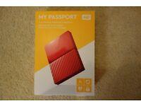 WD 4TB My Passport Portable External Hard Drive – Red