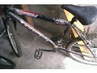 Second hand mountain bike for sale .