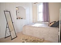 A Very BIG Double Bedroom with Lots of Storage Space is available Now in a friendly House share