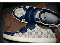Gucci 'GG' Blue Supreme Monogram Trainers Rrp £345 - Shoes Sneakers