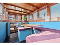 Two lovely rooms available to rent on gorgeous Dutch barge 5 minutes from Canary Wharf