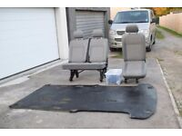 VW Transporter T5 2+1 rear seats plus floor mat and fixings