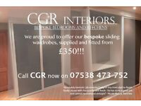 Bespoke Sliding wardrobes, supplied and fitted from £350!