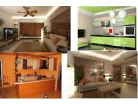Kitchens, bathrooms, floors, tiles, carpets, lights fitting, painting and decorating, plastlering