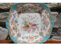 Colourful Antique Minton Dish / Plate Minton & Boyle Mark 1836 - 1841 Mintons Early Victorian