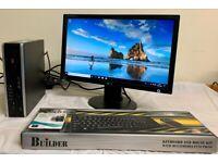 SSD HP Elite Ultra Slim Form Computer Desktop PC & LG 19 Widescreen