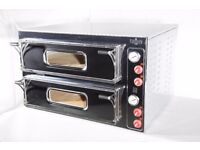 "BRAND NEW Italian twin double deck pizza oven 8x13"" commercial single or three phase 1 year warranty"
