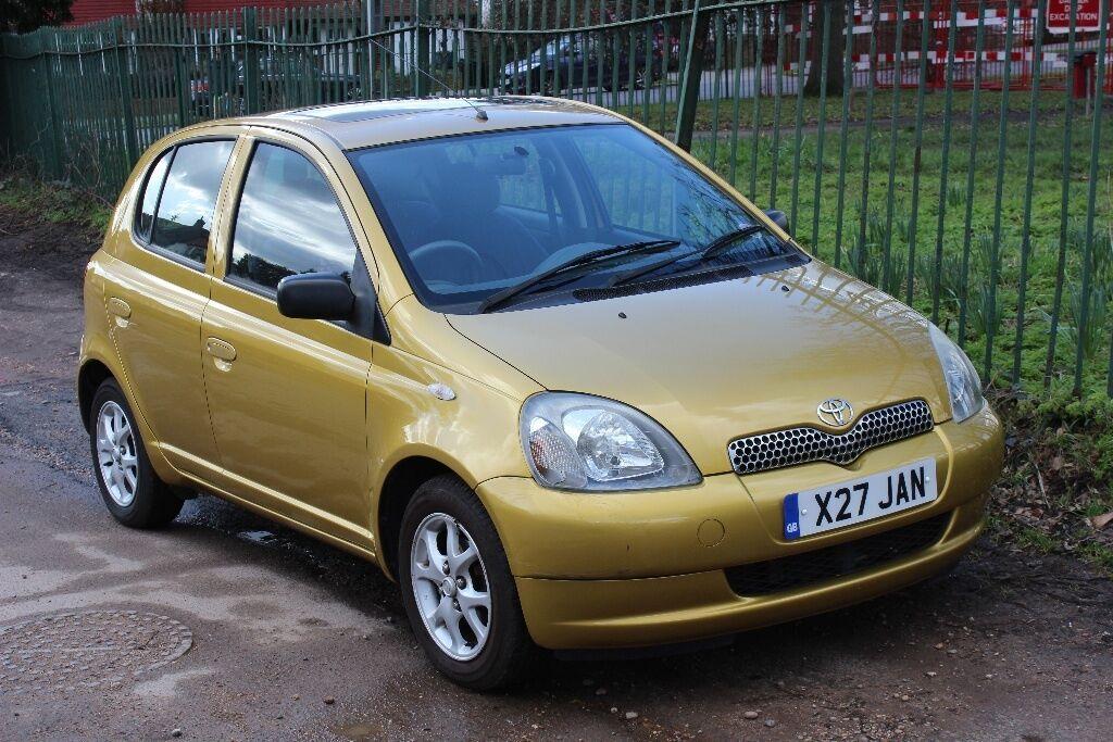TOYOTA YARIS CDX 1.3 VVTi 5 door hatchback, 2000 (X), flame gold ...