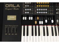 Pre owned Orla Compact Theatre Jubilee Organ (In Black) - 6 MONTH WARRANTY- DUE IN SOON