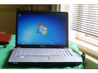 TOSHIBA LAPTOP WINDOWS 7 DUEL CORE WI-FI 160GB HD 2GB RAM