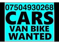 ☎️ 07504930268 WANTED CAR VAN BIKE SELL YOUR BUY MY SCRAP FOR CASH W