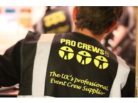 Urgent Event Crew Needed Bristol and surrounding areas
