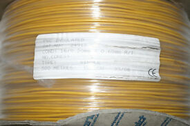 20AWG Wire - 500m reel - Yellow - 16/0.2mm - Permanoid 2491X