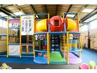 Large soft play area complete set up