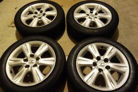 alloys Lexus is220 is250 16 inch alloy wheels