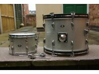 70's SLINGERLAND BLACK 14x14 TOM, SILVER SPARKLE 20x14 BASS & 12x8 TOM VARIOUS £'s (LE27QT
